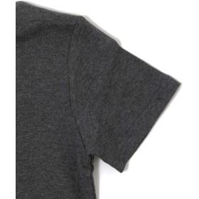 Tシャツ - 子供服のS & H 【GLAZOS】サイドロゴプリントVネック半袖Tシャツ 子供服 男の子 カジュアル アメカジ キッズ ジュニア カットソー120cm130cm 140cm 150cm 160cm グラソス 春夏