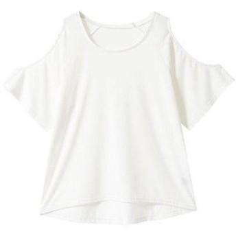 ユメテンボウ 夢展望 ワンショルダーor肩開きTシャツ (ホワイト肩開き)