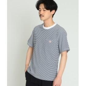 DANTON / ボーダー ポケット Tシャツ メンズ Tシャツ WHITE/ROYAL 36