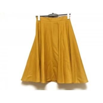 【中古】 アプワイザーリッシェ Apuweiser-riche スカート サイズ2 M レディース マスタード