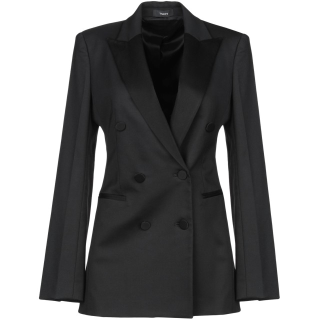 《期間限定 セール開催中》THEORY レディース テーラードジャケット ブラック 8 ポリエステル 54% / バージンウール 44% / ポリウレタン 2%