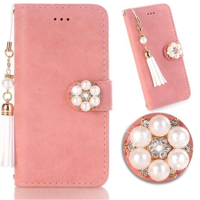 iphone8 手帳型ケース アイフォン7 ケース かわいい女性人気 iPhone 6/6s 携帯カバー 対応 スタンド 機能付き 耐摩擦 レザー カード収納 ピンク(iPhone 6/6s/7/8