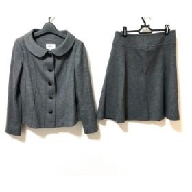 【中古】 49アベニュージュンコシマダ 49av. Junko Shimada スカートスーツ サイズ40 M レディース グレー