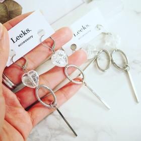 heart silverring metalbar pierce、earring