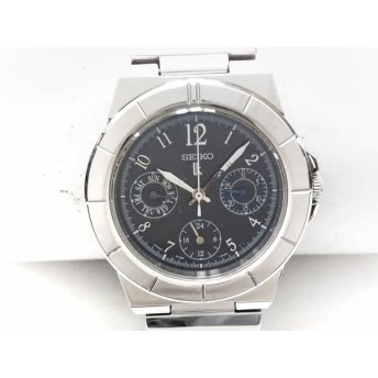 【中古】 セイコー SEIKO 腕時計 ルキア 5Y89-0B30 レディース トリプルカレンダー 黒