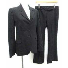 【中古】セオリー theory スーツ セットアップ 上下 ジャケット パンツ 4 2 黒 ブラック /KH レディース