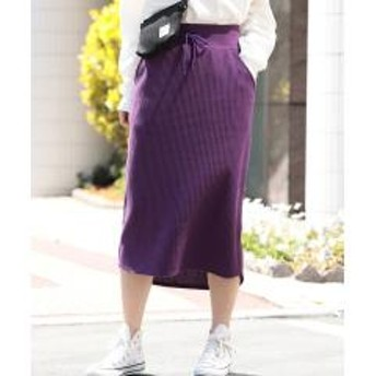 【WEB限定】ワッフルタイトスカート【お取り寄せ商品】