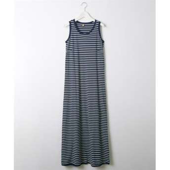 先染めボーダーマキシ丈ワンピース (ワンピース),dress