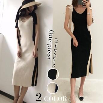 大ヒット商品超特価 韓国ファッション 大人可愛い ロングワンピース ニットワンピース 高級品質!
