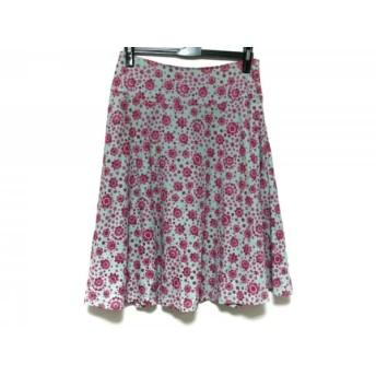 【中古】 ホコモモラ JOCOMOMOLA スカート サイズ40 XL レディース ピンク ライトブルー 花柄