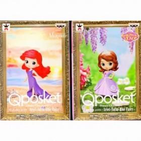 Disney Characters Q posket petit -Ariel・Sofia・Blue Fairy- アリエル・ソフィアの2種セット 在庫品