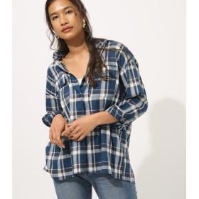 シャツ - AZUL BY MOUSSY マドラスチェックシャツ