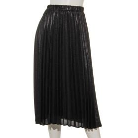 80%OFF Weaver (ウィーバー) ラメ布帛プリーツスカート ブラック