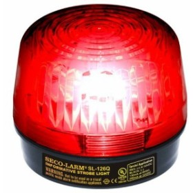 Seco Larm SESL126Qx-SESL126QR Enforcer Xenon Strobe Light 12VDC Red Lens