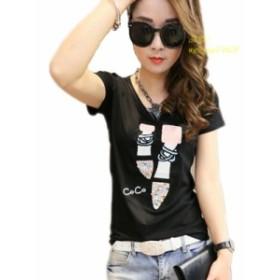 夏 tシャツ女性 tシャツかわいいtシャツファムカジュアルtシャツ女性トップス2019スリム人気   新品デ新品