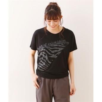G-FIT グラシアプリントTシャツ 【レディーススポーツウェア】