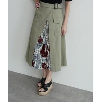 OZOC / オゾック スリットプリーツスカート