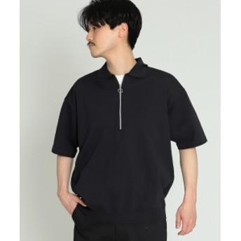 BEAMS / ニット ハーフジップ ポロ メンズ ポロシャツ BLACK XL
