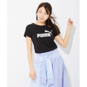 PUMA ロゴプリントTシャツ レディース ブラック