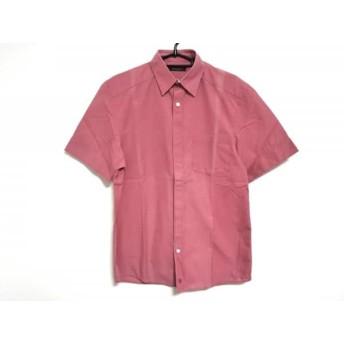 【中古】 ルイヴィトン LOUIS VUITTON 半袖シャツ サイズXS メンズ レッド