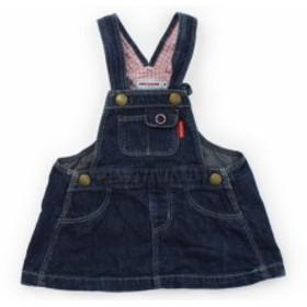 【ミキハウス/mikiHOUSE】ジャンパースカート 70サイズ 女の子【USED子供服・ベビー服】(377891)