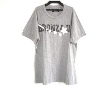 【中古】 ハイドロゲン HYDROGEN 半袖Tシャツ サイズXL メンズ グレー 黒 アイボリー スター