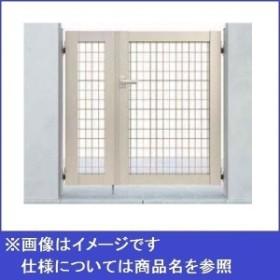 YKKAP シンプレオ門扉M1型 親子開き 門柱仕様 04・08-10 HME-M1 『メッシュデザイン』