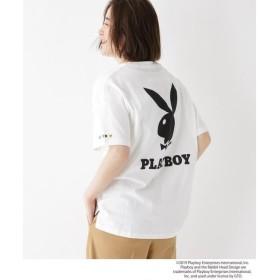 BASE STATION / ベースステーション コラボ別注 PLAYBOY プレイボーイ ポケット 半袖 Tシャツ
