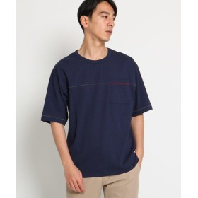 【60%OFF】 デッサン スラブ天竺 Tシャツ メンズ ネイビー(093) 03(L) 【Dessin】 【セール開催中】
