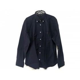 【中古】 ブラックレーベルクレストブリッジ 長袖シャツ サイズ4 XL メンズ 新品同様 ネイビー