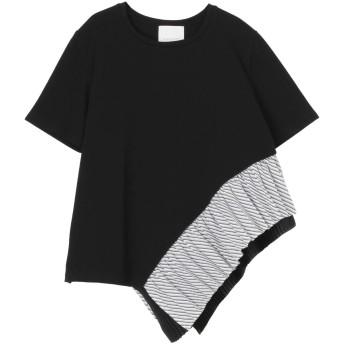 ELENDEEK HEM PLEATS CS Tシャツ・カットソー,ダークミックス