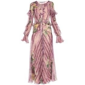 《セール開催中》ALBERTA FERRETTI レディース ロングワンピース&ドレス パープル 38 シルク 100% / レーヨン / 指定外繊維