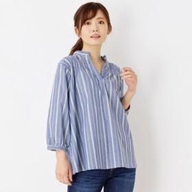[マルイ]【セール】防シワストライプシャーリングシャツ/サンカンシオン(レディス)(3can4on Ladies)