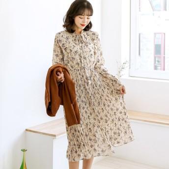 ワンピース - ONNY SHOP 【MERONGSHOP メロンショップ】フラワープリーツワンピース P000BZKK 韓国 ファッション 韓国ファッション レディース