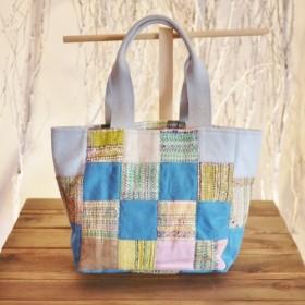 手織り パッチワークトート