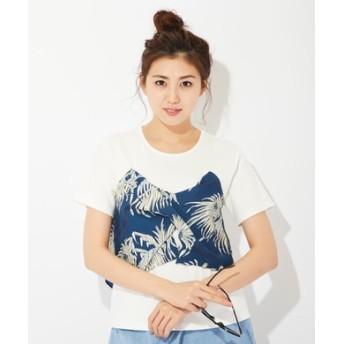 REYN SPOONER ビスチェ付きTシャツ レディース ネイビー