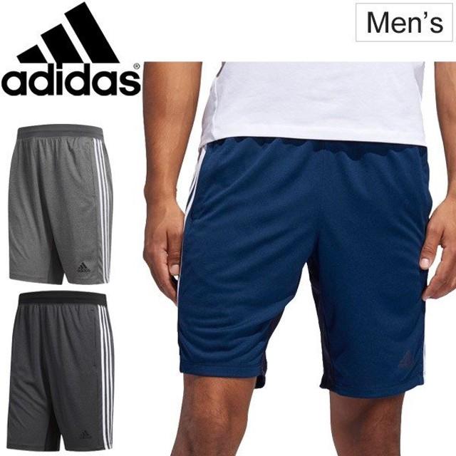 ハーフパンツ メンズ アディダス adidas M4T 3ストライプス ヘザー ウーブンショーツ スポーツウェア トレーニング ランニング ジムウェア /FSK67