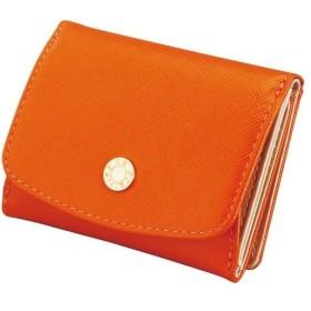 内祝い 内祝 お返し 財布 札入れ レディース Le Prairies ビジュー 三つ折BOX札入 オレンジ NPL1385 (7)