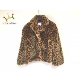 マウジー moussy コート サイズ1 S レディース 美品 ライトブラウン×黒 豹柄/冬物/ショート丈 新着 20190423