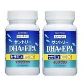 サントリー DHA&EPA+セサミンEX オリザプラス120粒 約30日分 2本セット 送料無料