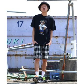 ハーフパンツ - improves ショートパンツ メンズ 膝上 チェック パンツ ハーフパンツ ショーツ 短パン 半ズボン チェック柄パンツ ブラック レッド ブルーホワイト 黒 赤 青 白 韓国ファッション きれいめ カジュアル モード ストリート系 スケーター メンズファッ