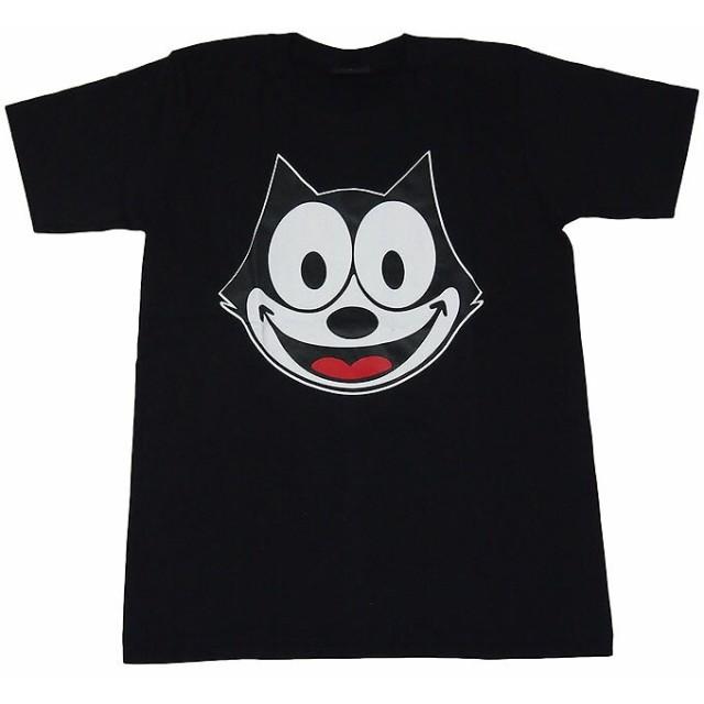 並行輸入品felix The Catフィリックス 黒猫 プリントtシャツ