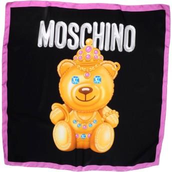 《期間限定セール開催中!》MOSCHINO レディース スカーフ ブラック シルク 100%