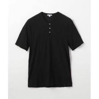 トゥモローランド コットンリネン ヘンリーネックTシャツ MYH3000 メンズ 19ブラック 0(S) 【TOMORROWLAND】
