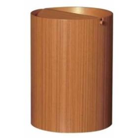 SAITO WOOD ごみ箱 ダストボックス 回転蓋 L 9L チークグレイン[952TA](ブラウン)