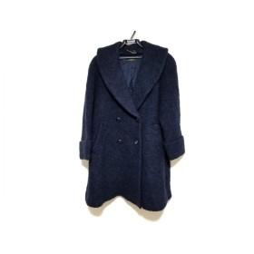 【中古】 レリアン Leilian コート サイズ9 M レディース ネイビー 冬物