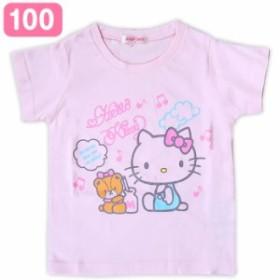 ハローキティ キッズ Tシャツ 音符 100cm 子供 サマー☆サンリオ 春夏キッズファッションシリーズ クロネコDM便可