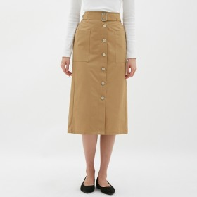 GU ウエストベルトナローミディスカート