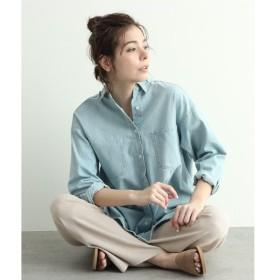 OZOC / オゾック [洗える]デザインポケットビッグデニムシャツ