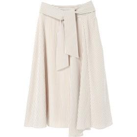 【5,000円以上お買物で送料無料】ストライプ切替スカート